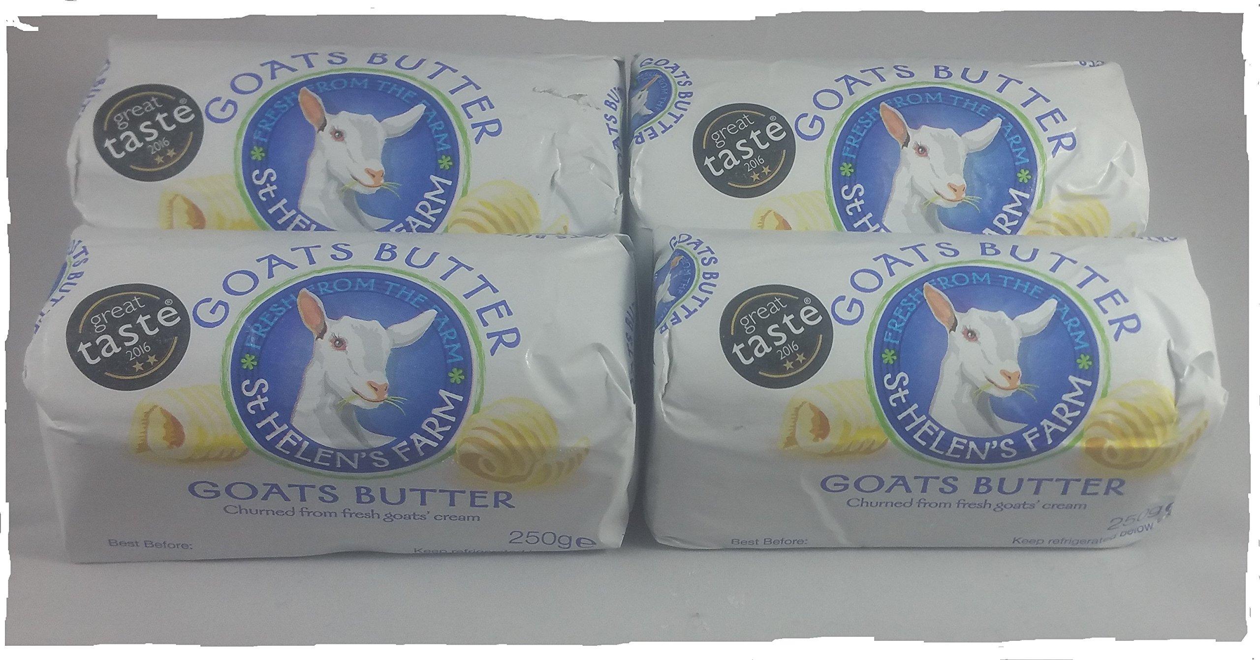St. Helen Goat Butter Set. 8.8 oz Pack of 4.