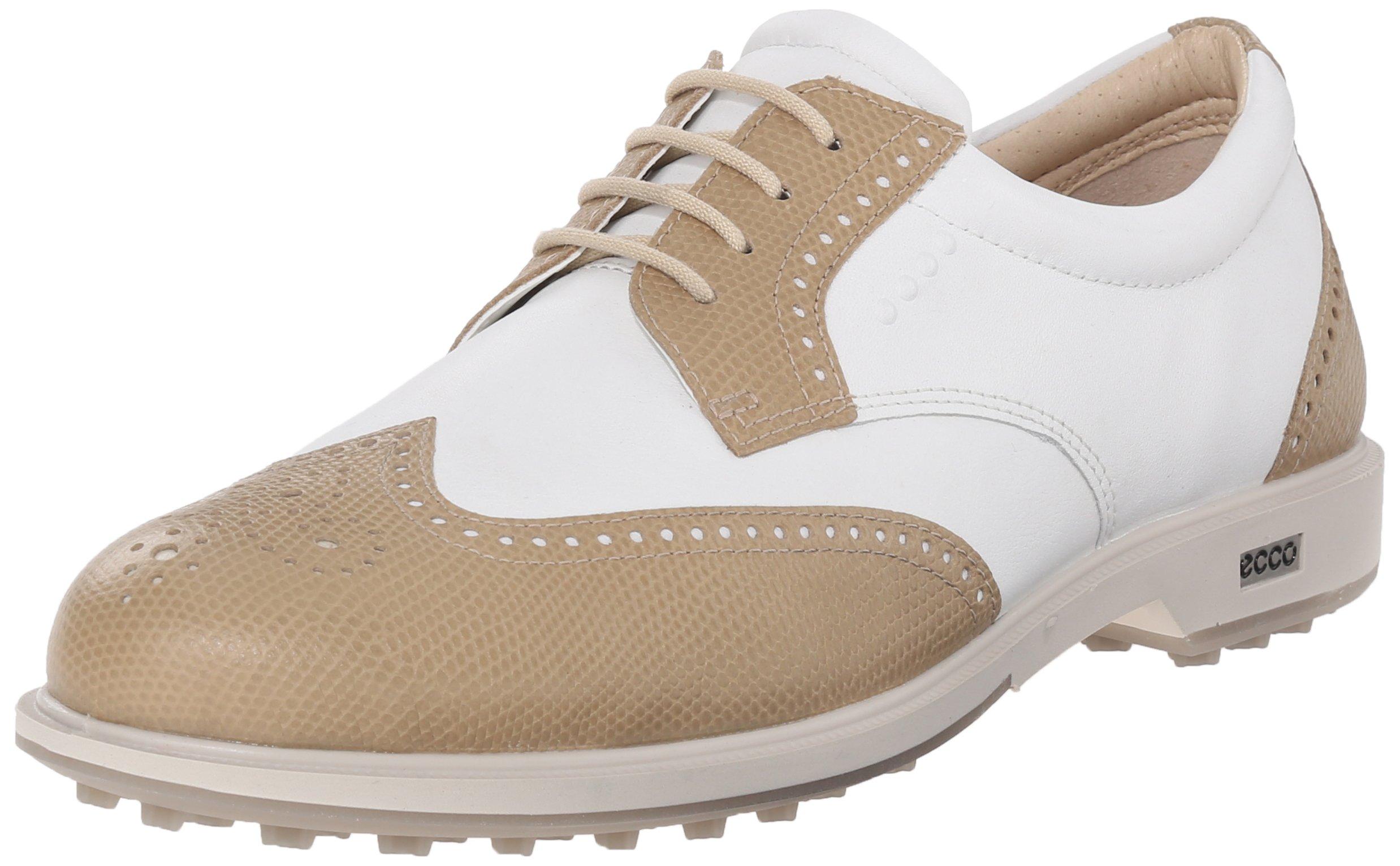 ECCO Women's Classic Hybrid Golf Shoe, Sand/White, 41 EU/10-10.5 M US