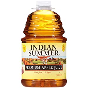 Premium Apple Juice, 100% Juice Made From Fresh U.S. Apples, 128 Fluid Ounce (Pack of 4), By Indian Summer