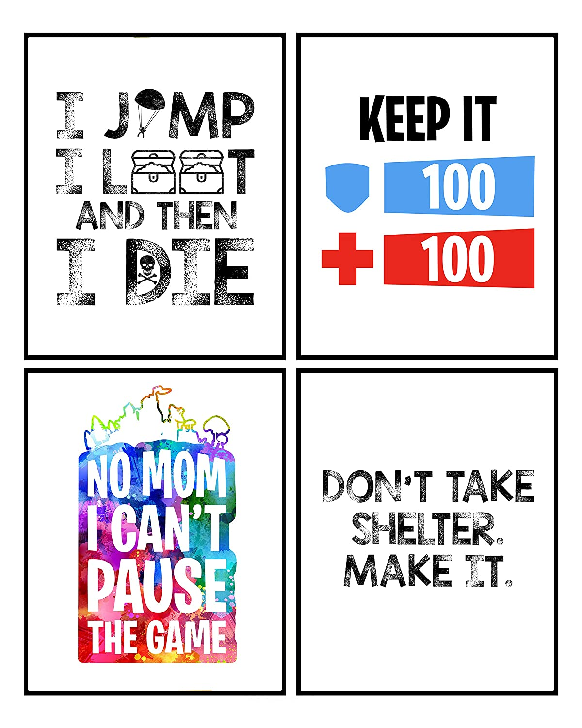 Bright Video Gamer Themed Art Print Room Wall Decor Mix and Match (Keep It 100)