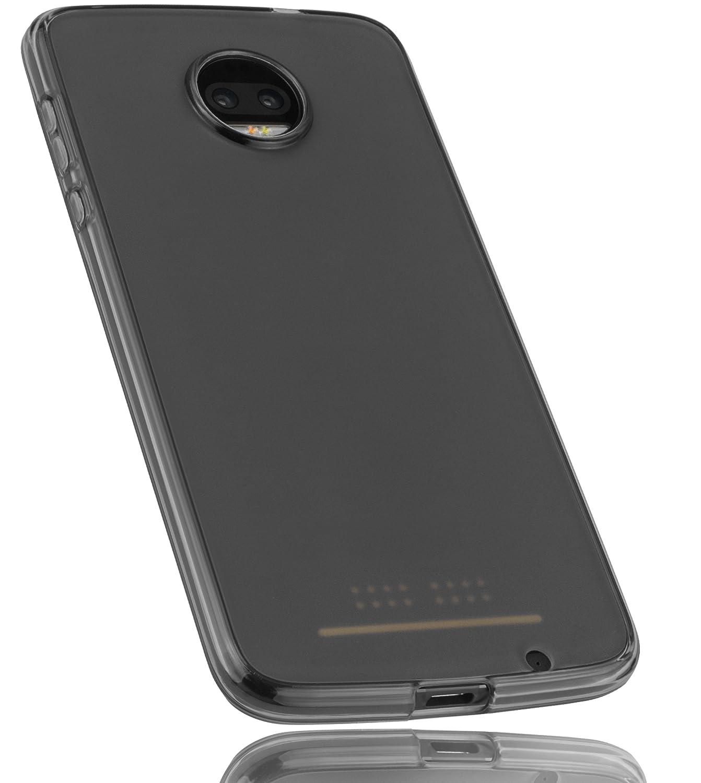 mumbi Schutzhülle für Motorola Moto Z2 Force Hülle transparent schwarz mumbi® 24510-Moto Z2 Force