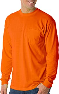 product image for Bayside Men's Long Sleeve Full Cut Pocket Style T-Shirt