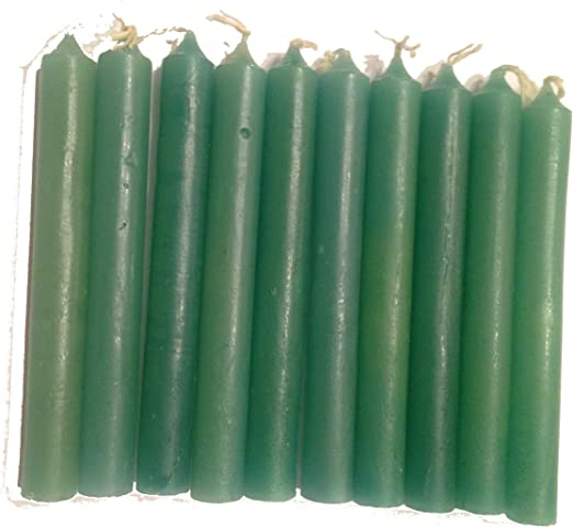 """WICCA /& PAGAN SHIP ALTAR SVC 4/"""" CHIME SPELL CANDLES YELLOW LOT OF 5 FREE U.S"""