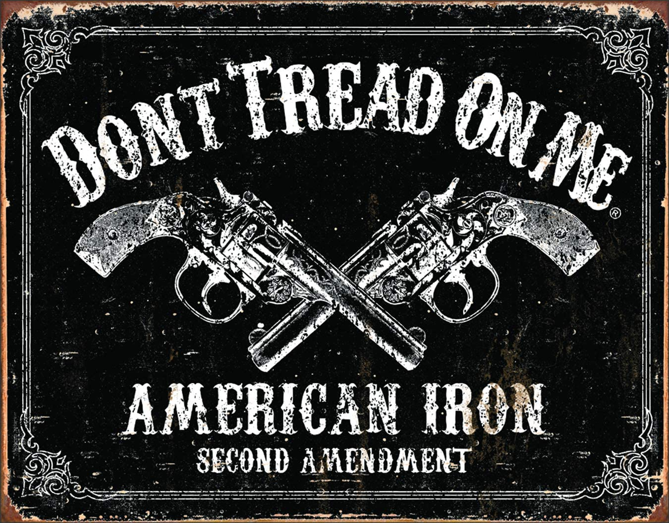"""12/"""" x 17/"""" Tin Metal Sign You Can/'t Have My Country Guns I Don/'t Want Hand Outs"""