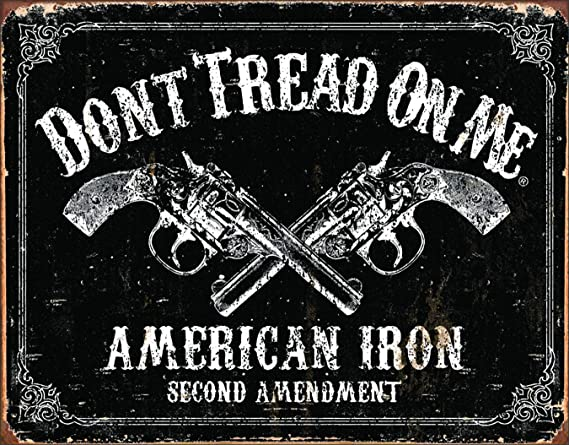 Don't tread on me Metal tin sign DTOM black jack Home Garage Wall Decor New