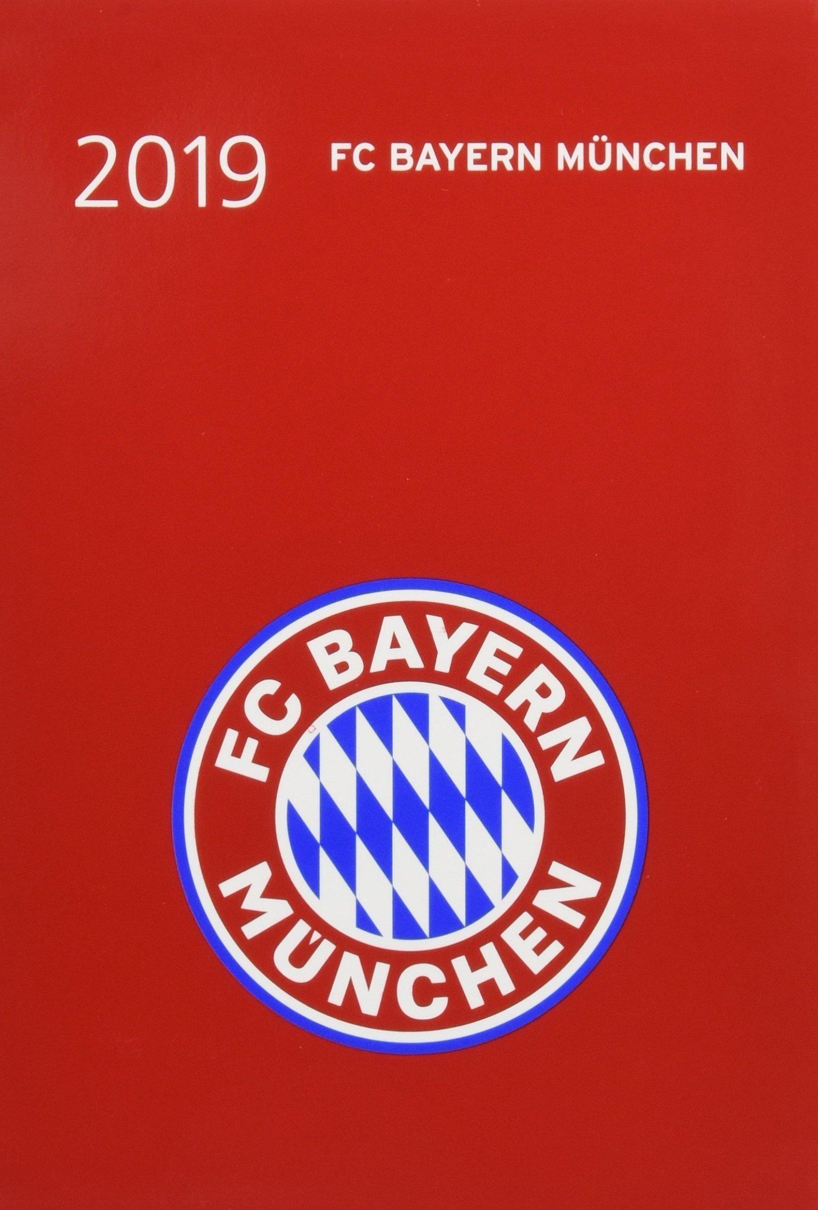FC Bayern München 17-Monats-Kalenderbuch A6 - Kalender 2019: 17 Monate von August 2018 bis Dezember 2019.