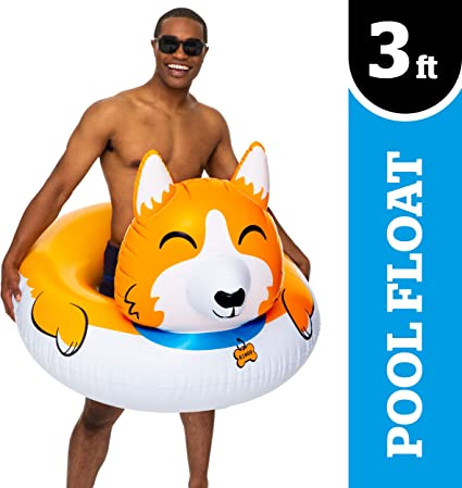 GIANT TWO HEARTS Inflatable Swimming Pool Float Raft Tube BigMouth Inc