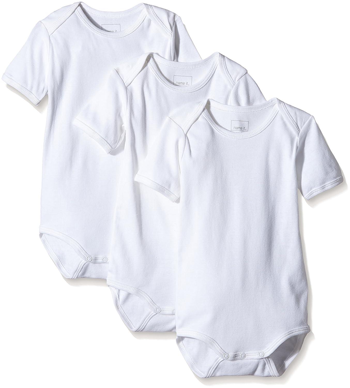 NAME IT Baby-Jungen Body Nitbody SS M Noos, 3er Pack