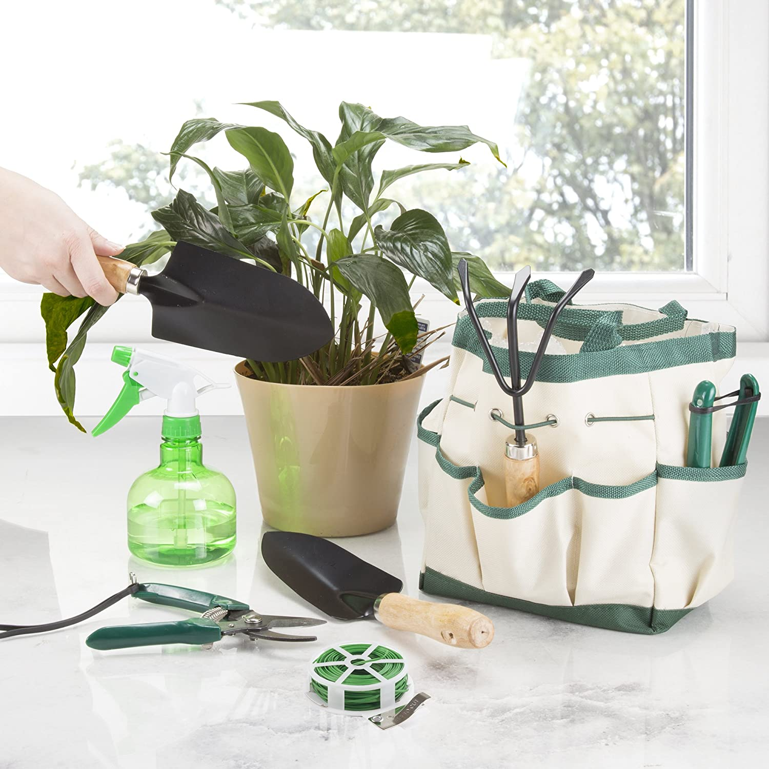 Delightful Amazon.com : Pure Garden 75 08002 8 Piece Garden Tool And Tote Set : Garden  U0026 Outdoor