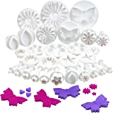 VonShef Set 30 Piece Set Sugar Craft Cake Decorating – Includes Flowers, Butterflies, Hearts