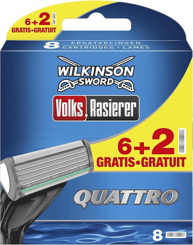 Wilkinson Sword Quattro 6 cuchillas de afeitar + 2 cuchillas ...