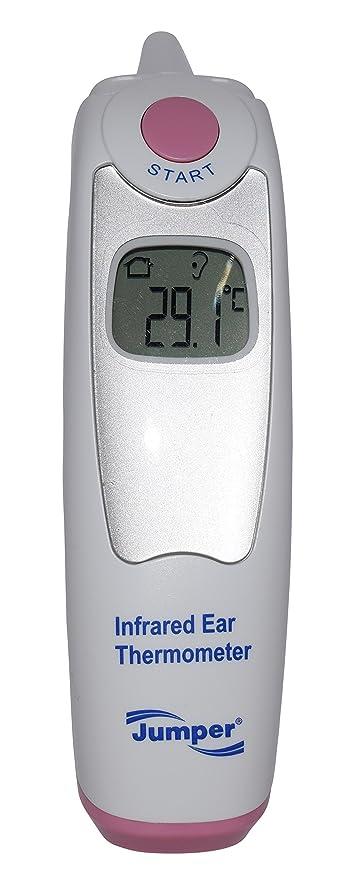 [Jumper® Medical] termómetro digital infrarrojo (IR) de oído con capuchón reemplazable