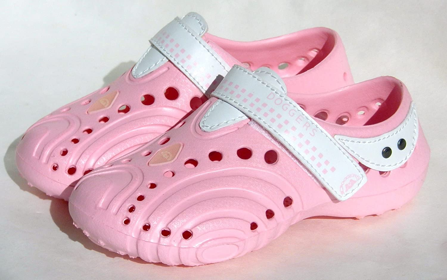 Soft Pink//White Size 3//4 USA Dawgs Inc. Toddler Ultralite Doggers
