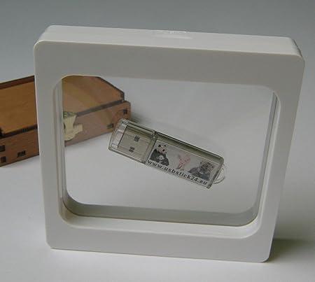5 Stück Kronenberg24 3D Schweberahmen Objektrahmen weiss 110x110x20mm für Kleinteile