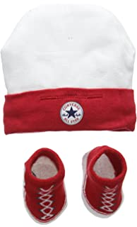 5faab960199 Converse Unisex Baby Hat and Bootie Plain Clothing Set