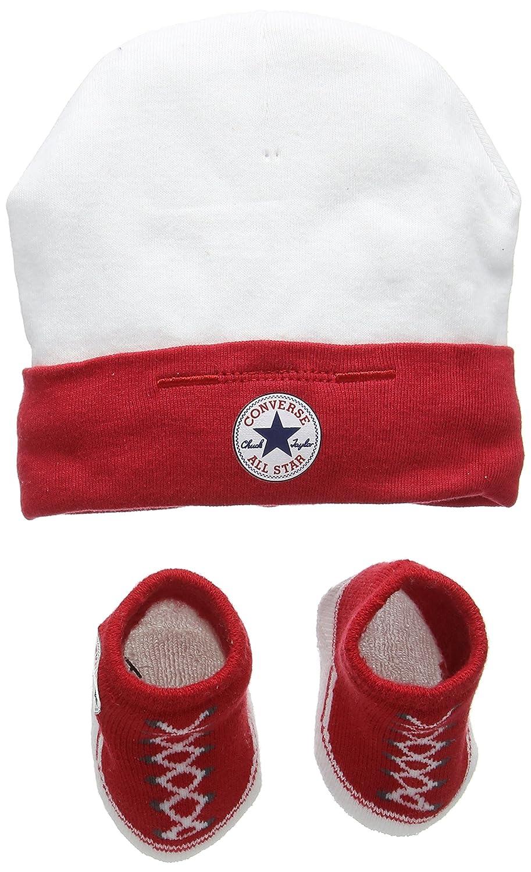 Converse Hat And Bootie, Set Unisex-Bimbi, (Red), 0/6 Mesi (Taglia Produttore: 0-6M) CNV0008