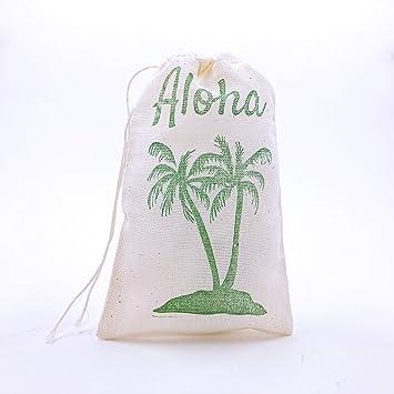 Palm Tree Favor Bags Hawaiian Party Bags Aloha Gift Bags Beach Goodie Bags Wedding Welcome Bachelorette