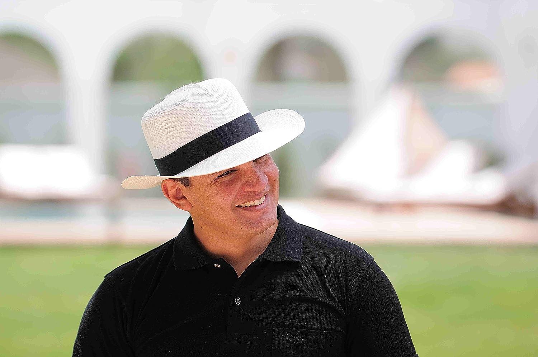 Gamboa - Cappello Panama Autentico Unisex Capello di Paglia Elegante  Bianco  Amazon.it  Abbigliamento dfbcc66030aa