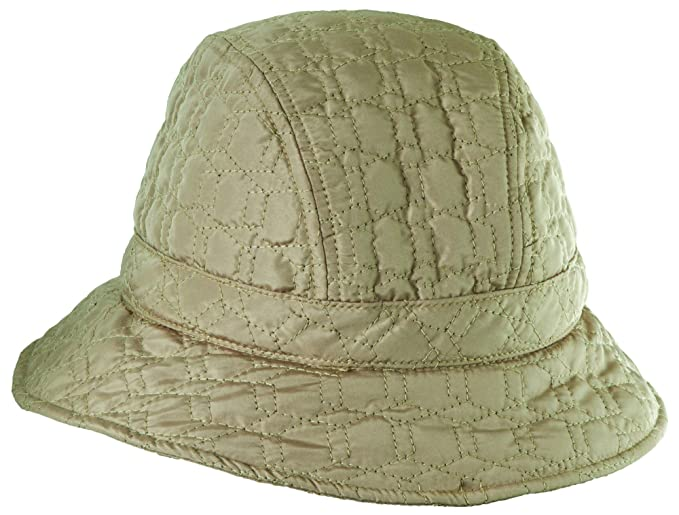 a084e9cb61403 SCALA Stitched Rain HAT with Fleece Lining (Camel) at Amazon Women s  Clothing store