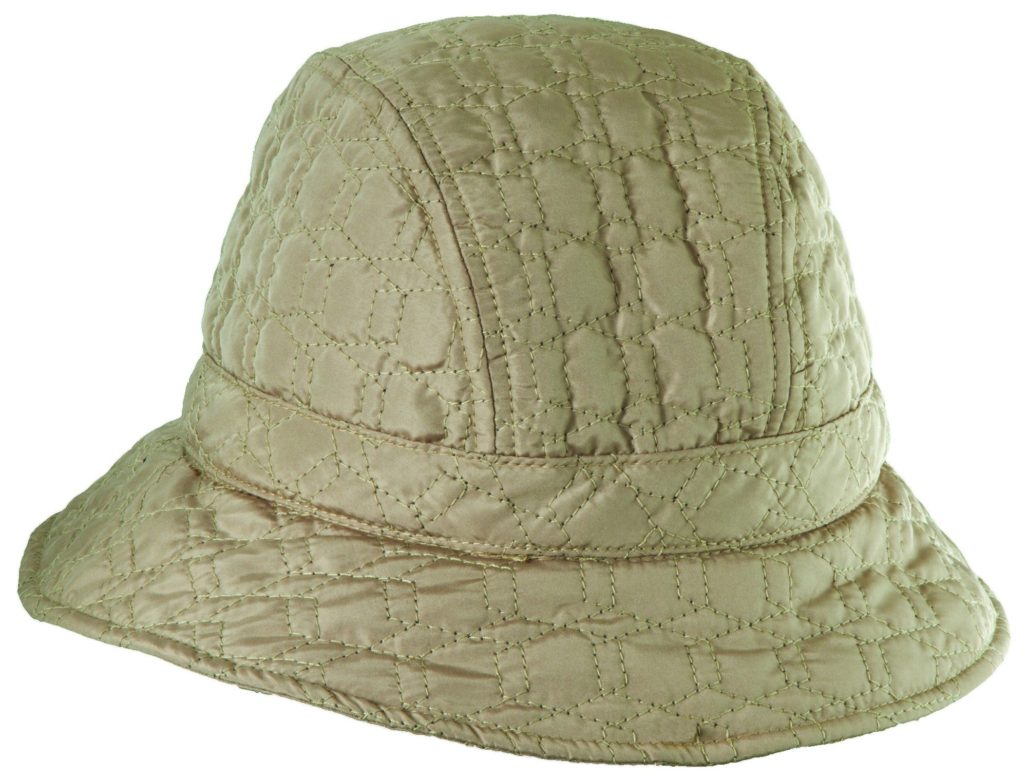 Scala Stitched Rain HAT with Fleece Lining (Camel)