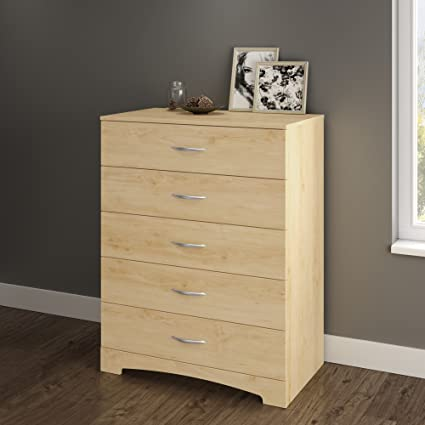 South Shore Step One Collection 5 Drawer Chest, Natural Maple