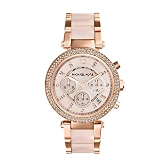 Michael Kors Womens Parker Gold-Tone Watch
