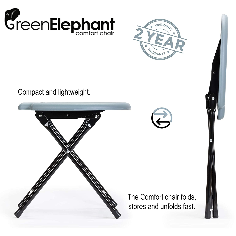 spiaggia GREEN ELEPHANT comfort sedia sedile WC portatile per campeggio /Sedile WC di campeggio porta vasino vasino portatile e confortevole per adulti e bambini di escursioni e Pi/