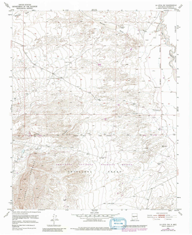 Amazoncom Yellowmaps La Joya Nw Nm Topo Map 124000 Scale