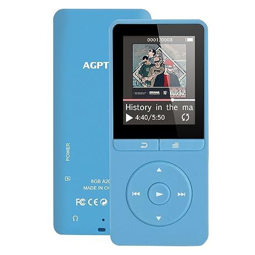 13 opinioni per Lettore MP3 8 GB, AGPTEK A20 Lettore Musicale senza perdita di audio 80 ore di