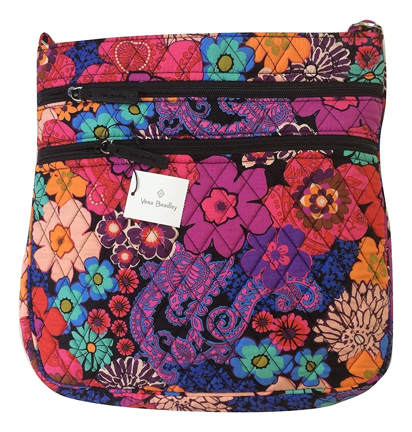 【即納!最大半額!】 Vera Bradley レディース B06ZZ18R5C Floral Fiesta Fiesta Vera With Interior Black Interior Floral Fiesta With Black Interior, アンドRバッグ:5ae7b8a8 --- egreensolutions.ca