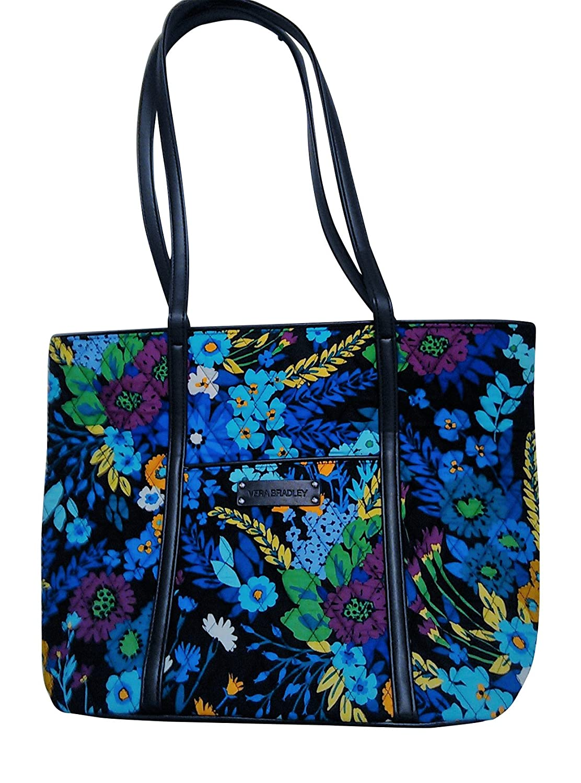 88c8a1f3236 Amazon.com  Vera Bradley Womens Small Trimmed Vera Tote Handbag Midnight  Blues  Shoes