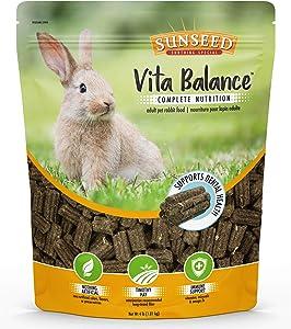 Sunseed Vita Balance Complete Nutrition Adult Pet Rabbit Food, 4 LBS