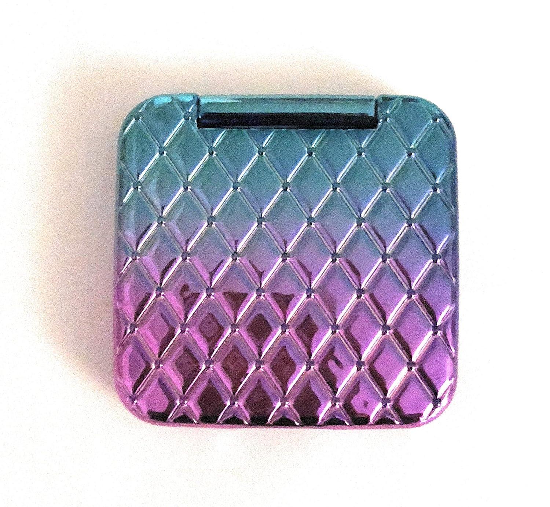 Miroir de poche - Miroir compact - Violet Bleu Effet Matelassé Holographique Primark