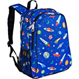 Wildkin 15 Inch Backpack, Extra Durable Backpack with Padded Straps and Interior Moisture-Resistant Lining, Perfect for School or Travel, Olive Kids Design – Out of this World