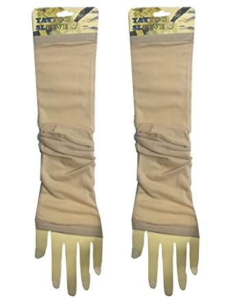 8a0b19cdf8c83 1 Pair - Wearable Tattoo Arm sleeves Skin Cover for Sun protection(Beige  Color): Amazon.in: Clothing & Accessories