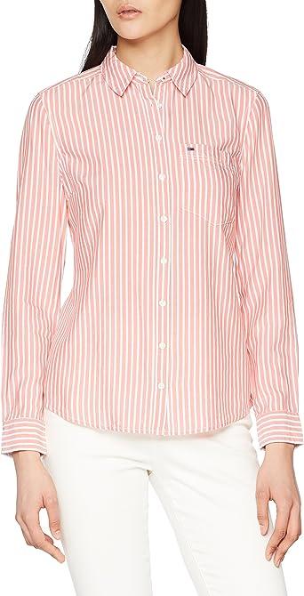 Tommy Hilfiger Regular Stripe Shirt Blusa para Mujer: Amazon.es: Ropa y accesorios