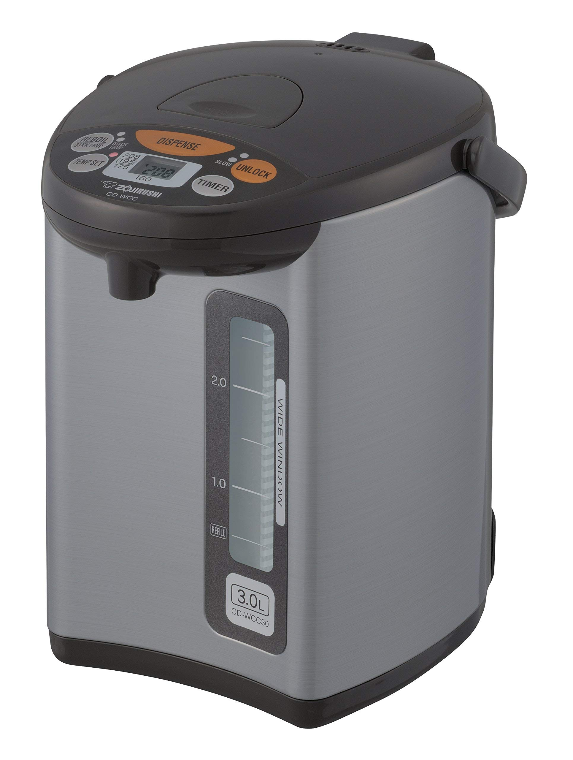 Zojirushi CD-WCC30 Micom Water Boiler & Warmer, Silver (Renewed) by Zojirushi