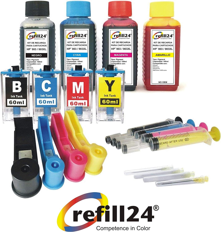 Kit de Recarga para Cartuchos de Tinta HP 903XL 903 Negro y Color ...