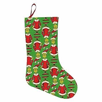 Zeze Navidad Grinch Navidad medias calcetines calcetín de Papá Noel reno bolsa de regalo: Amazon.es: Hogar