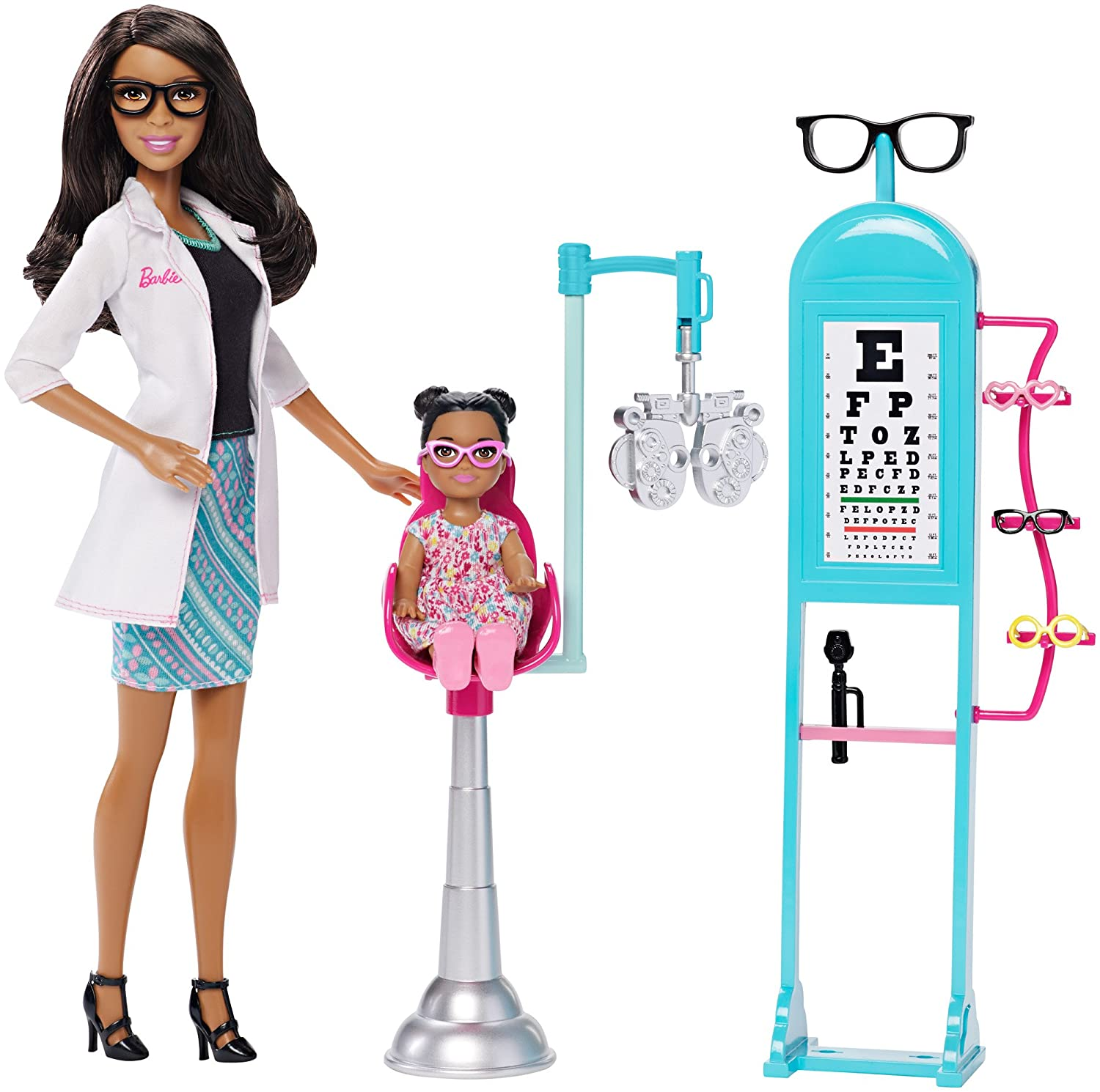 com barbie careers eye doctor doll and playset toys games