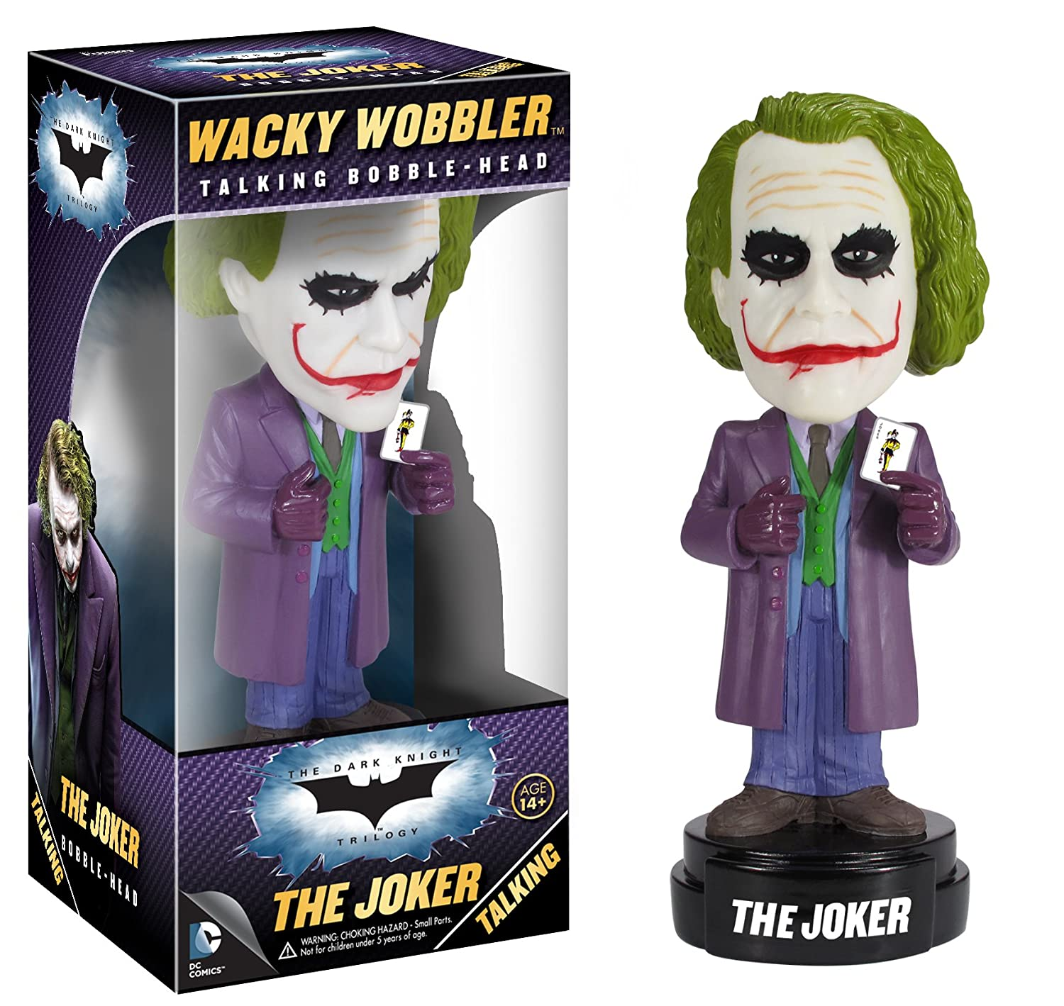 Discontinued by manufacturer 3394 Misc Product Funko Dark Knight Movie The Joker Wacky Wobbler
