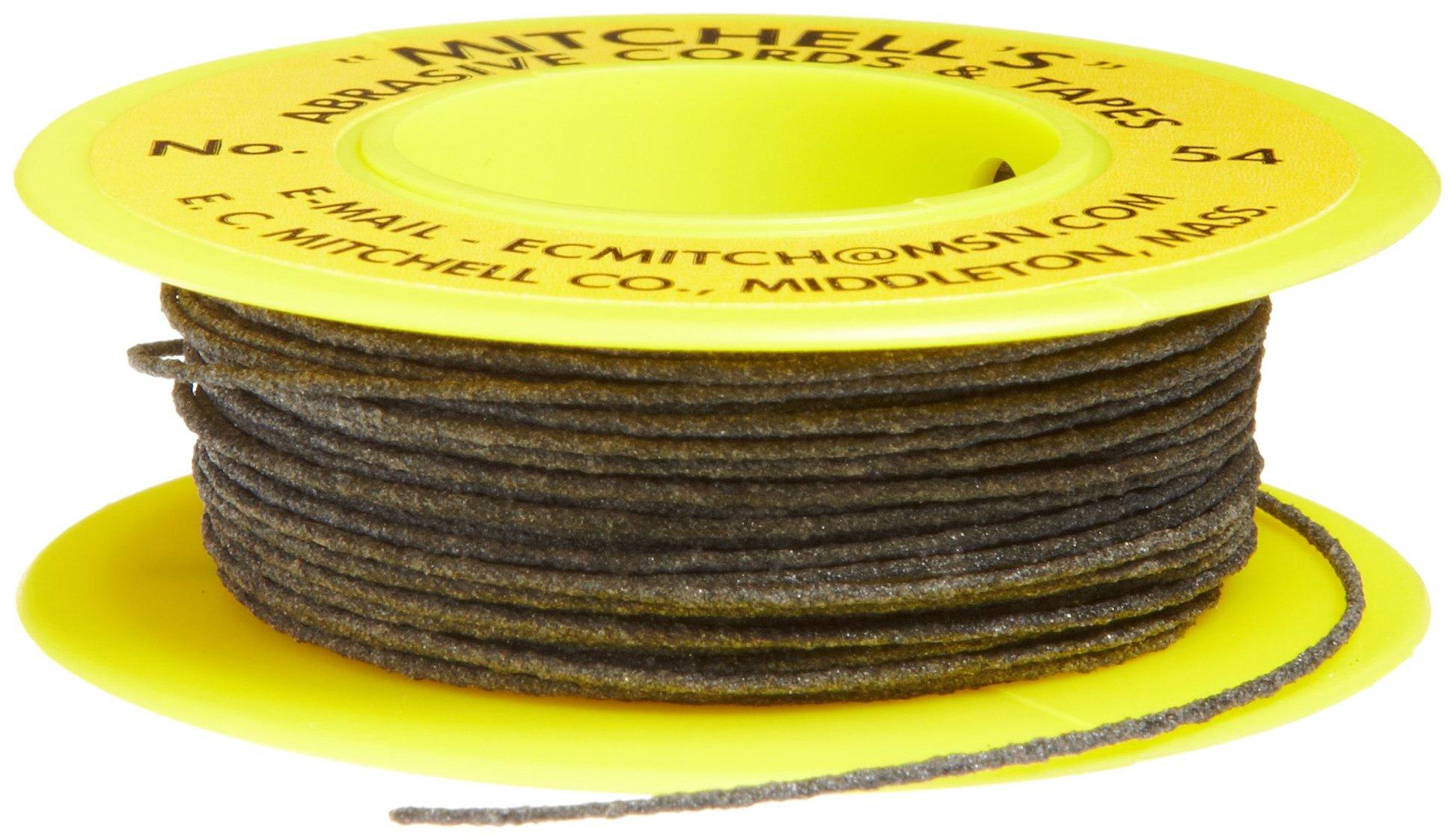Mitchell Abrasives 54-S Round Abrasive Cord, Silicon Carbide 180 Grit .030'' Diameter x 25 Feet by Mitchell Abrasives