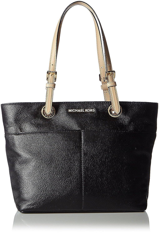 michael kors women s bedford leather leather top handle tote rh amazon com