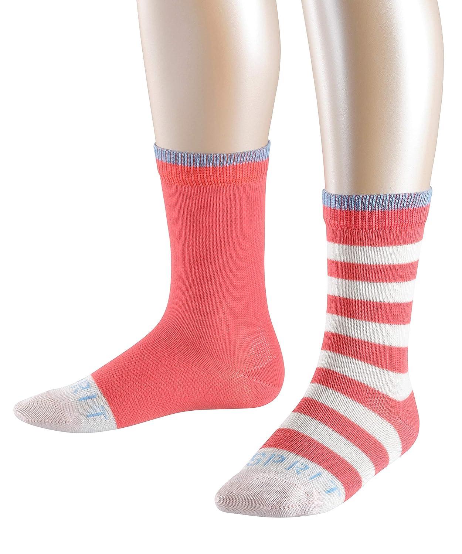 erPack 2 ESPRIT Unisex Kinder Stripe Logo Gestreift Baumwoll-Socken,