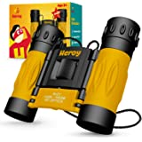 Kids Binoculars 8x21 - Toy Binoculars for Boys and Girls with Carrying Case and Neck Strap - Compact Folding Children's Binoculars for Bird Watching Stargazing Hunting Hiking and More