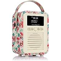 VQ Retro Mini DAB & DAB+ Digital Radio with FM & AM, Bluetooth & Alarm Clock – Emma Bridgewater Pink Pansy, (VQ-Mini…