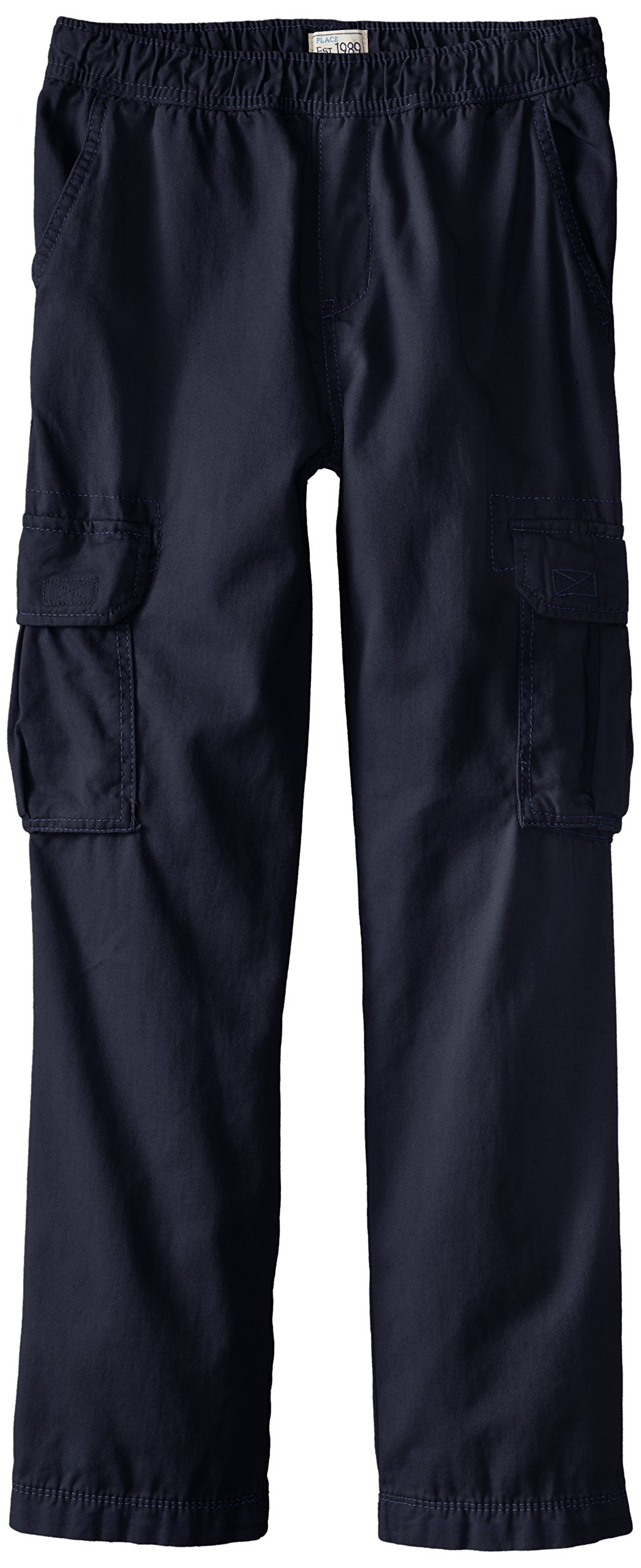 The Children's Place Boys Size His Pull-on Cargo Pants, New Navy, 10 Slim