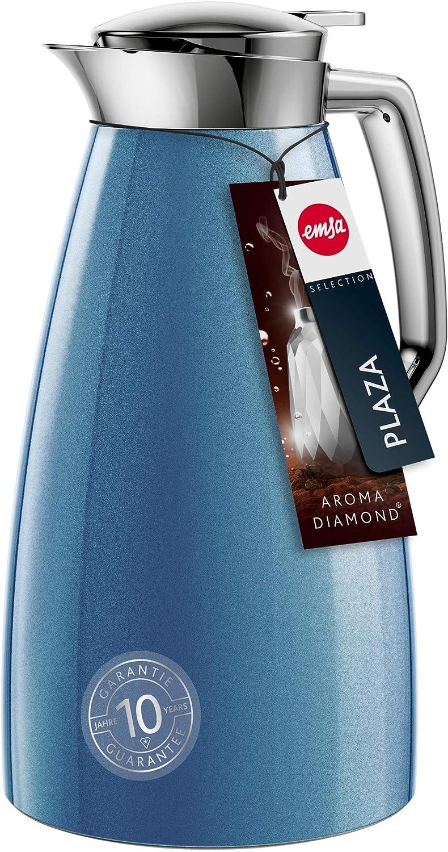Emsa F4140400 Plaza Bouteille isotherme en plastique ABS Bleu 1 l