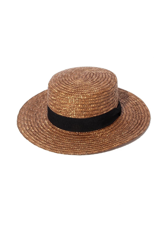 Ray BEAMS(レイビームス)_(レイビームス) Ray BEAMS O.ストローカンカン帽 ONE SIZE BROWN_通販_Amazon|アマゾン