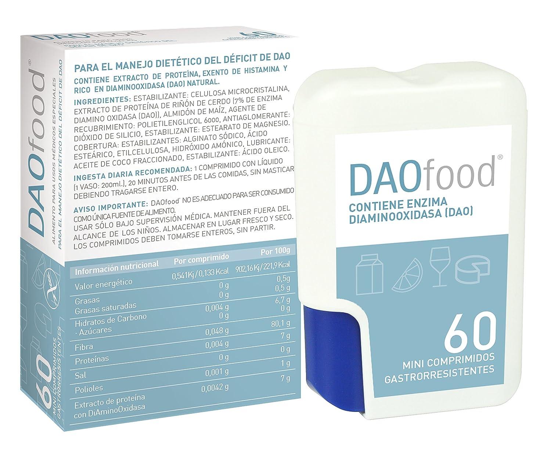 Dr-Healthcare DAOFOOD Dispensador Para El Tratamiento Dietético del Déficit DAO, 60 Mini-Comprimidos